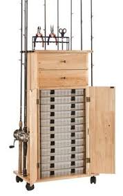 Fishing Rod Storage Cabinet 18 Rod Tackle Storage Cabinet Rod Rack Fishing Gear Fishing