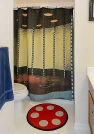 Shower Curtains Sets For Bathrooms by Star Trek Transporter Room Bath Mat U0026 Shower Curtain Set Thinkgeek