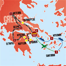 Santorini Greece Map by Best Of Greece Tour The Travel Warehouse