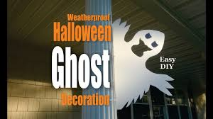 diy halloween ghost weatherproof decorations youtube