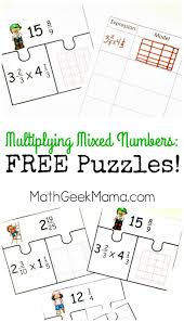 Multiplying Fractions By Whole Numbers Worksheets Low Prep Multiplying Fractions Activity Free Mixed Numbers Puzzles