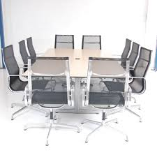 Office Furniture Table Meeting 10 Seater Boardroom Table Maple Meeting Table Large Conference