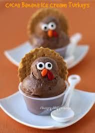 cocoa banana turkeys healthy thanksgiving dessert