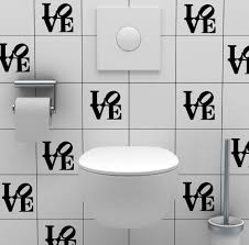 awesome bathroom tile decals on bathroom wall stickers waterproof