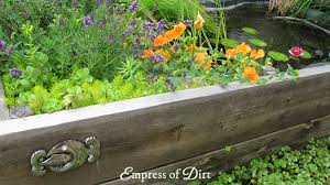 How To Build A Raised Flower Bed Diy Build A Garden Pond In A Raised Bed Empress Of Dirt
