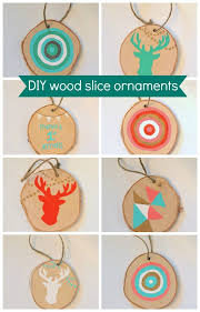 how to make diy wood slice ornaments the sweetest digs