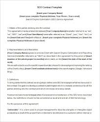 5 seo contract templates u2013 free word pdf format download free