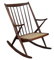Modern Outdoor Rocking Chairs Frank Reenskaug Bramin Danish Modern Rocking Chair Chairish
