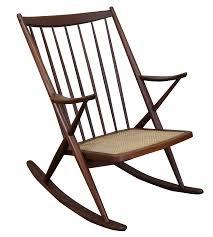 Rocking Folding Chair Frank Reenskaug Bramin Danish Modern Rocking Chair Chairish
