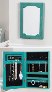 wall mounted jewelry cabinet wall mount mirrored jewelry armoire everything turquoise