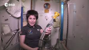 astronaut shows how to use a space toilet iss video youtube