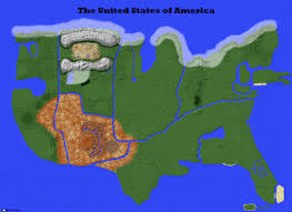 Minecraft America Map by North America 11500 Scale In Minecraft Youtube Maps Mania The