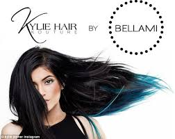 jenner hair extensions caitlyn jenner models s teal hair extensions in premiere of