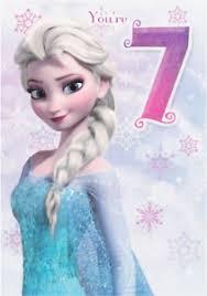 frozen elsa you u0027re 7 7th birthday card new disney ebay