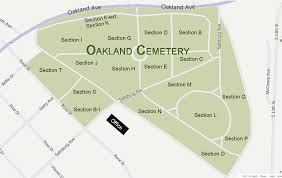 map of oakland map of oakland cemetery indiana pa