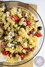 cold pasta salad recipes mediterranean pasta salad table for two