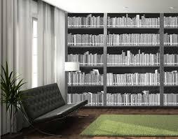 1wall giant monochrome bookshelf wall mural 1wall giant monochrome bookshelf wall mural main image