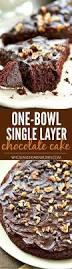 an easy recipe for a delicious and moist single layer chocolate