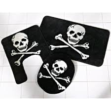 Skull Bathroom Accessories by Bathroom 3 Pc Pirate Bath Mat Set Thisnthatnmore