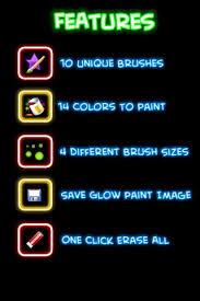 glow paint color on the app store