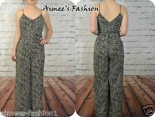 cheetah print jumpsuit s polyester print jumpsuits rompers playsuits ebay