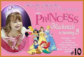 disney princess invitations notary letter