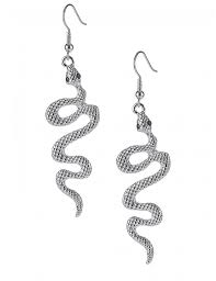 drop earrings side snake drop earrings in silver lamoda