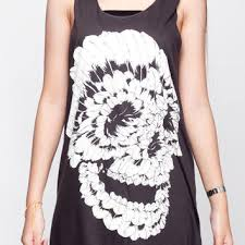 skull shirt indian feather sugar skull from teetwice on etsy