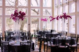 Purple Centerpieces Black Purple Silver Centerpieces Indoor Reception Winter Wedding