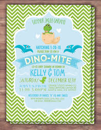 dinosaur baby shower dinosaur baby shower invitation dino baby chevron pattern