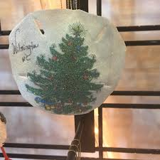 christmas tree sand dollar ornament top toad top toad