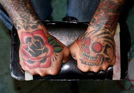 skeleton rose tattoo for man design idea for men and women