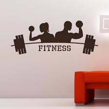 high quality gym design buy cheap lots from modern design art decor fitness gym wall decal vinyl sticker sports athletics home