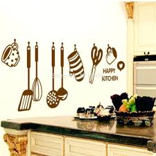 innovative dining cutlery silhouette set wall art decal dining