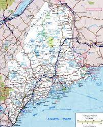 Road Map Of Massachusetts by Maine State Road