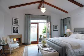 Blue Bedroom Bench Roman Shades For French Doors Bedroom Transitional With Bed Bench