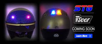 Motorcycle Helmet Lights Super Seer Motorcycle Helmets For Law Enforcement U0026 Recreation