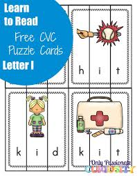 Printable Cvc Worksheets Learn To Read Cvc Puzzles With The Letter I U2013 Only Passionate