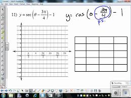 graphing sec and csc worksheet 11 12 youtube