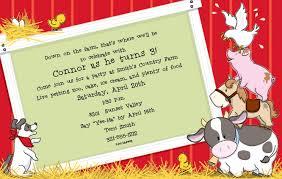 farm animal birthday invitations new invitations