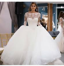 wedding gown eye catching gown wedding dresses lace top sleeve zipper
