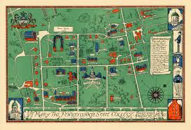 penn state park map a cool 1930 map of penn state the penn stater magazine