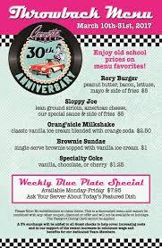 corvette diner menu prices corvette diner s 30th anniversary throwback menu cohn restaurant