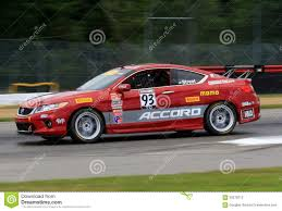 honda accord performance pro honda accord race car on the course editorial stock photo
