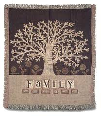 personalized family tree throw blanket quilt monogrammed