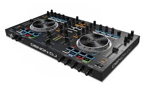 amazon com denon dj mc4000 premium 2 channel dj controller with