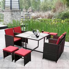 Rattan Patio Dining Set - rattan patio dining chairs patio ideas