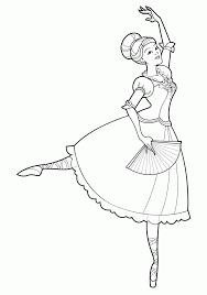 barbie 12 dancing princesses coloring pages printable