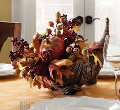 decorations natural harvest horn thanksgiving centerpiece
