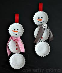 cool diy snowman ornament to make with your kid kidsomania